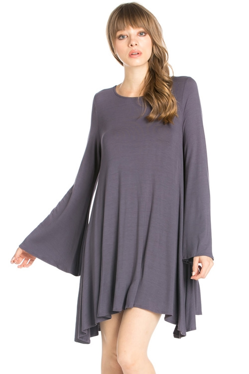 BELL SLEEVES POCKET DRESS - orangeshine.com
