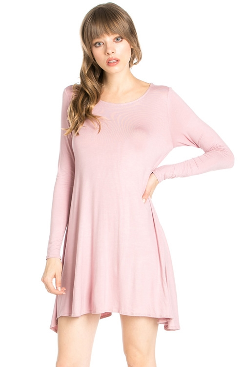 LONG SLEEVES POCKET DRESS - orangeshine.com