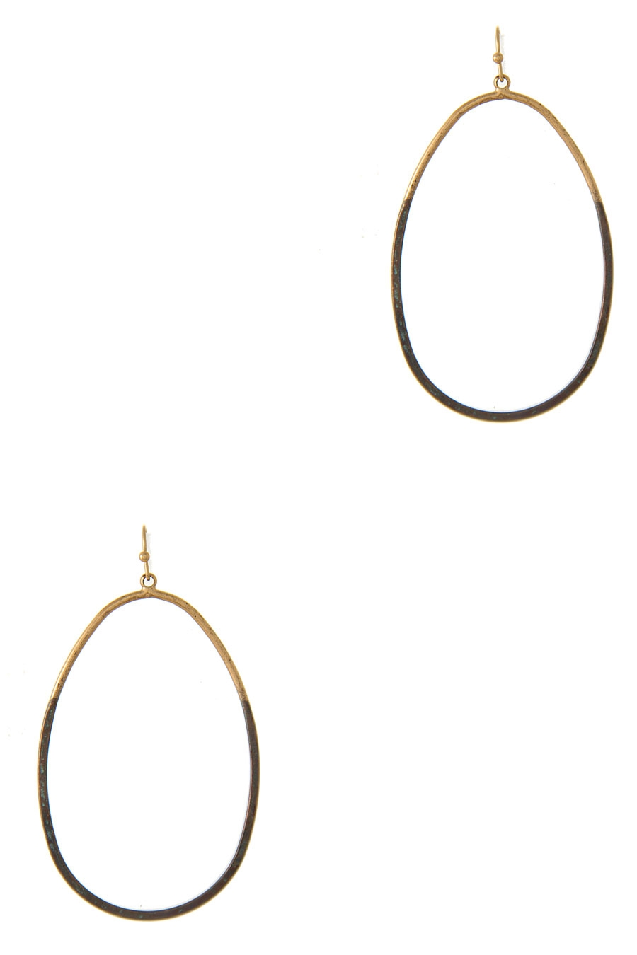 THIN CUT-OUT OVAL EARRING - orangeshine.com