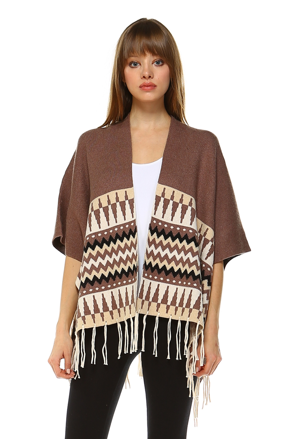 SMOOTH KNIT PONCHO - orangeshine.com