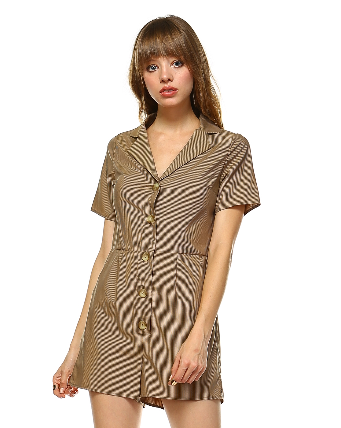 BUTTON DOWN ROMPER - orangeshine.com