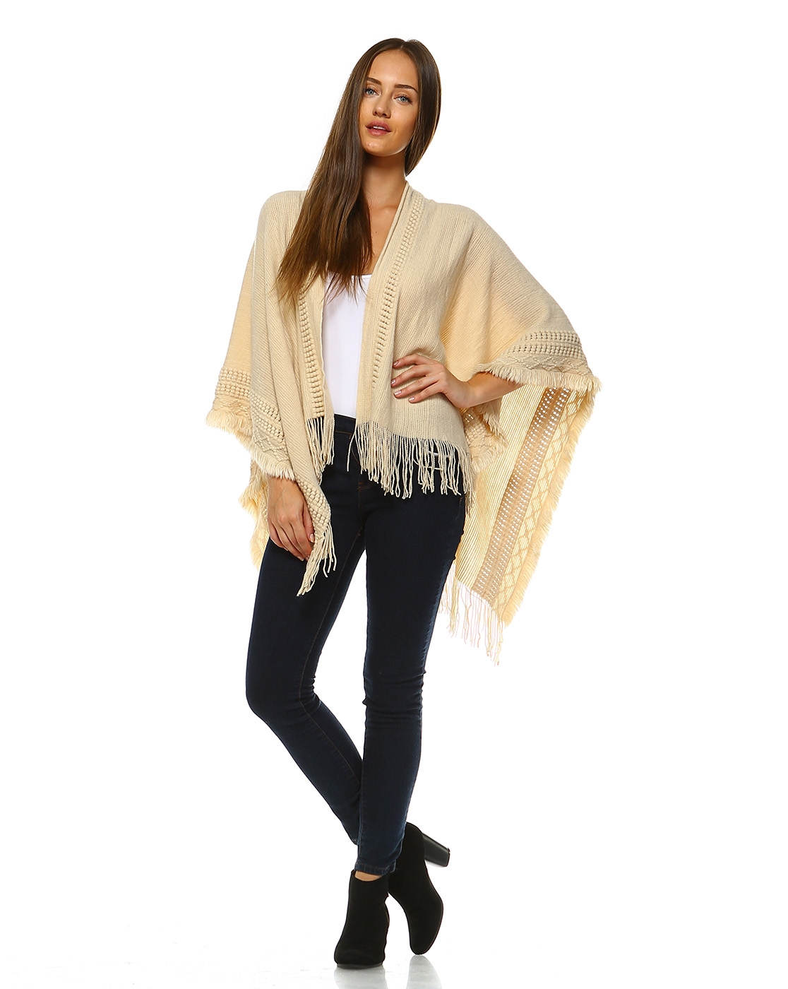 Lady Poncho Sweater - orangeshine.com