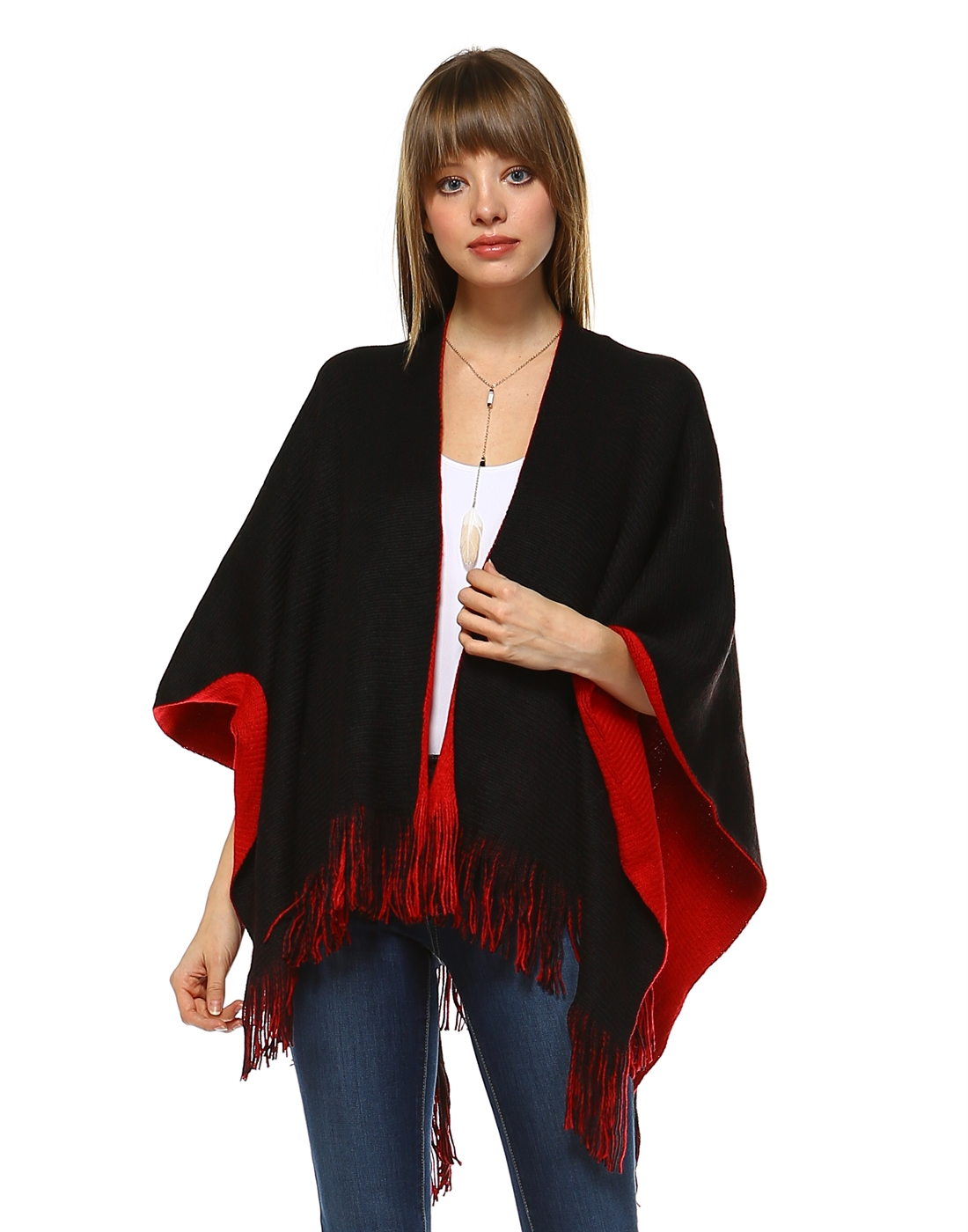 Reversible Shawl Cape - orangeshine.com