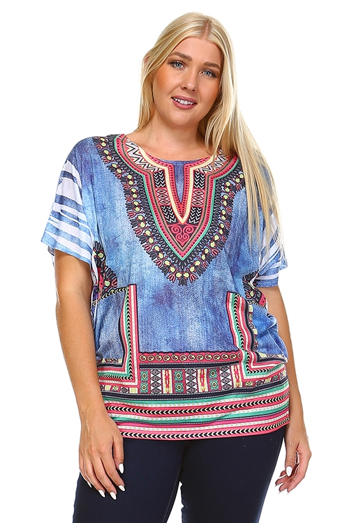 Dashiki blue - orangeshine.com