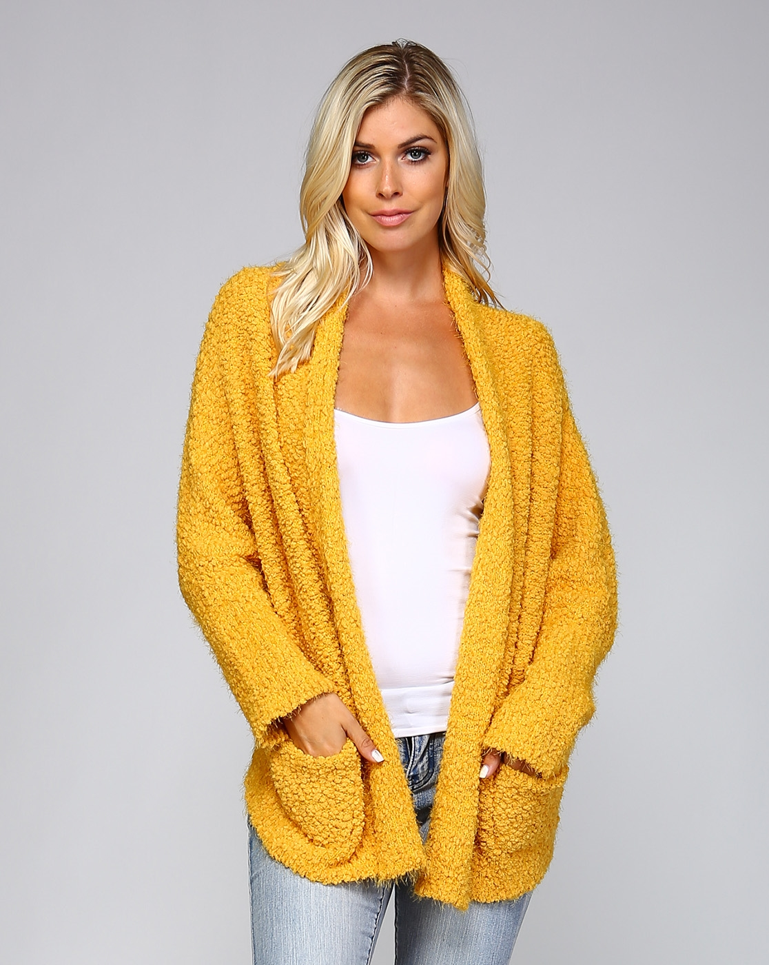 POPCORN WATERFALL CARDIGAN - orangeshine.com