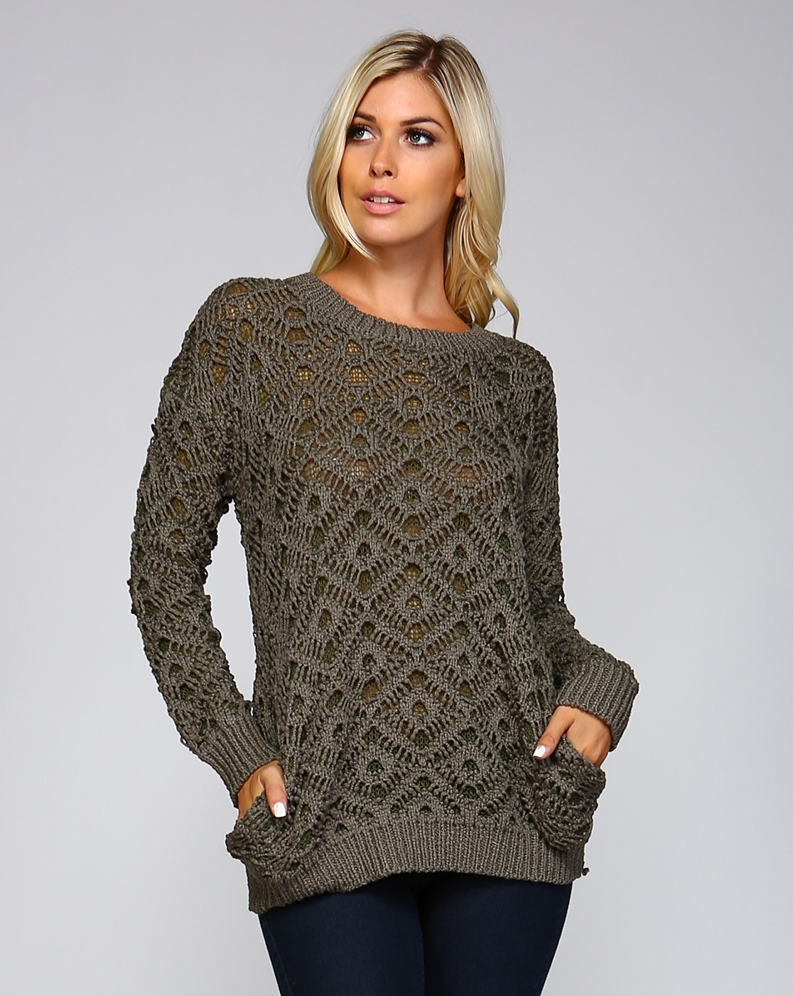 DOUBLE KNIT TUNIC SWEATER - orangeshine.com