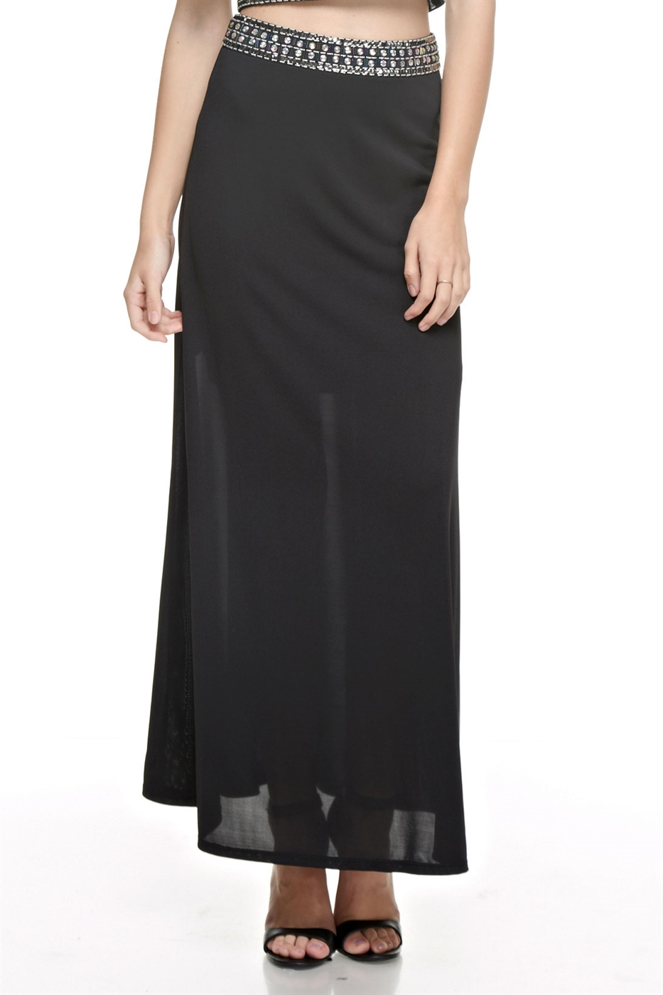 Embellished Maxi Skirt - orangeshine.com