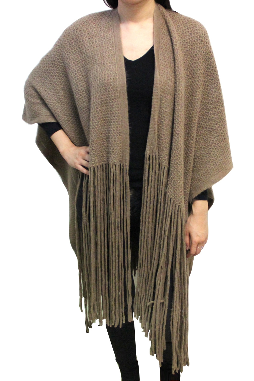 COZY LONG FRINGE END SHAWL - orangeshine.com