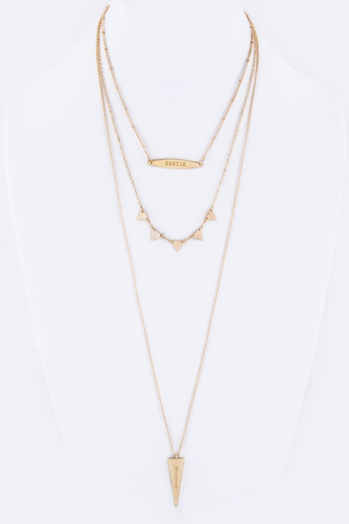 BESTIE  Arrow Charm Necklace - orangeshine.com