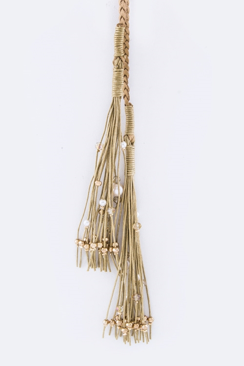 Beaded Tassels Braiding Knotte - orangeshine.com