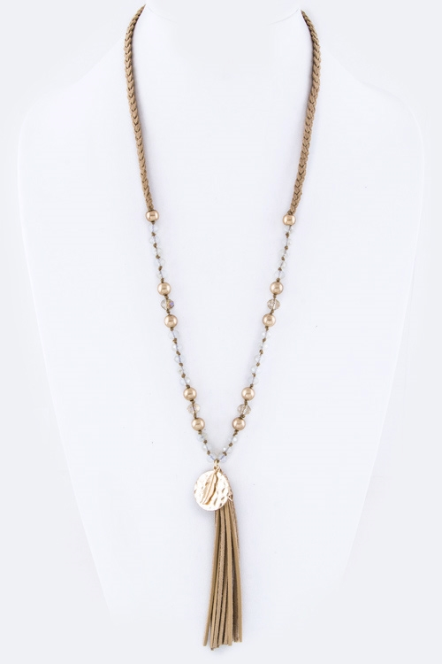 Feather  Tassel Necklace - orangeshine.com