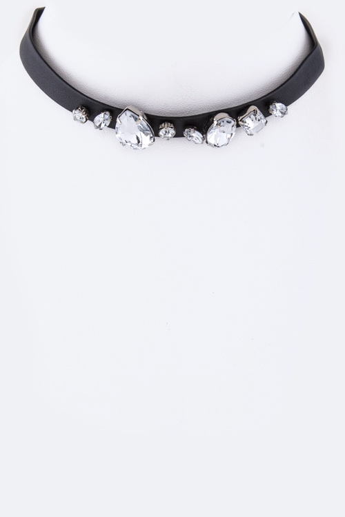 Mix Crystals Choker Necklace - orangeshine.com