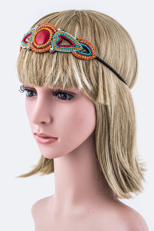 Mix Tribal Stretch Headband - orangeshine.com