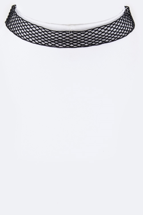 Mesh Lace Choker Necklace - orangeshine.com
