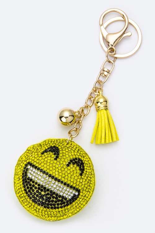 Crystal LOL Emoji Key Charm - orangeshine.com