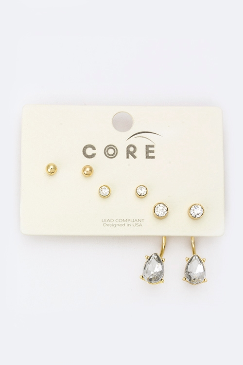 Mix Stud Earrings Set - orangeshine.com