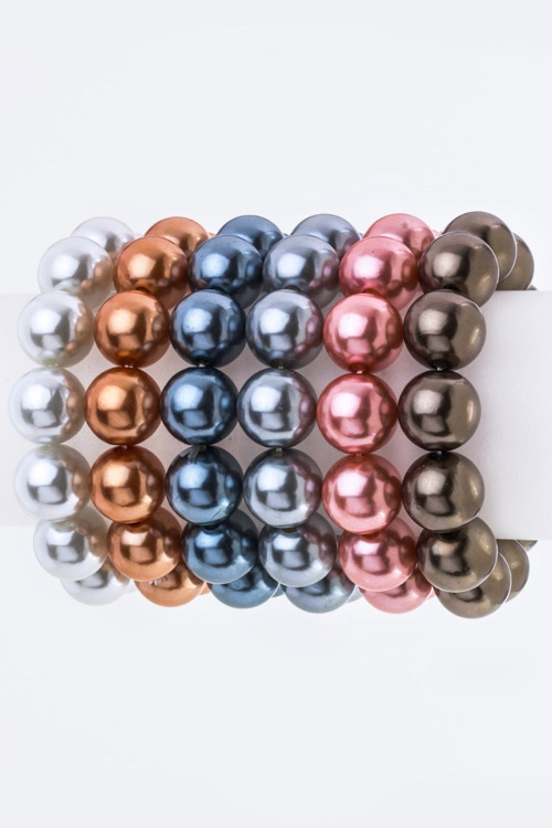 Pearl Stretch Bracelets Set - orangeshine.com