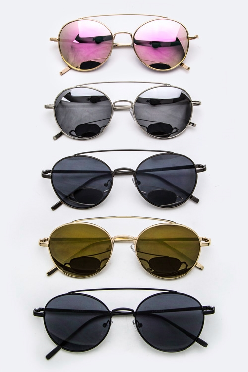 Top-Bar Oval Sunglasses - orangeshine.com