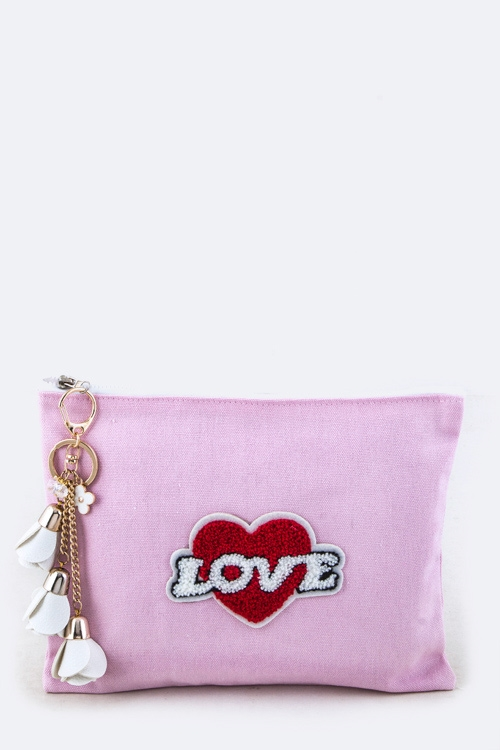 Plush LOVE Pouch - orangeshine.com