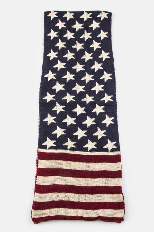 US Flag Knit Scarf - orangeshine.com
