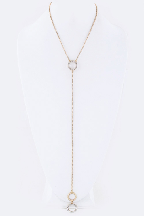 Double Hoops Drop Necklace - orangeshine.com