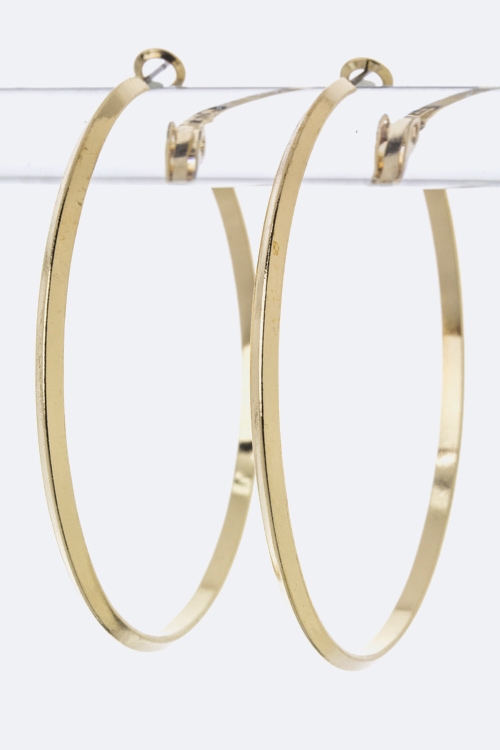 Metal Hoop Earrings - L - orangeshine.com