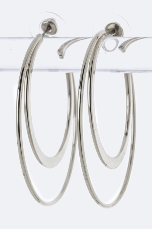 Layer Hoop Earrings - orangeshine.com