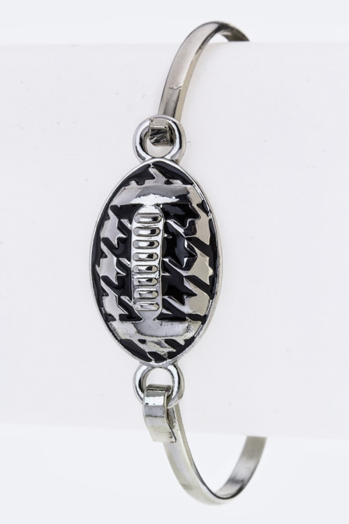 Houndstooth Football Hook Bang - orangeshine.com