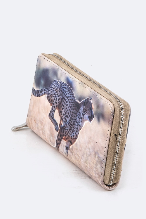 Cheetah Print Wallet - orangeshine.com