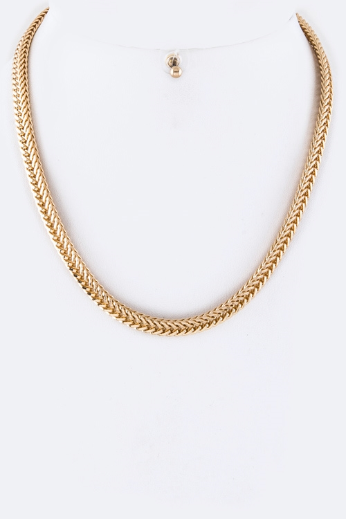 Chevron Rope Chain Necklace  - orangeshine.com