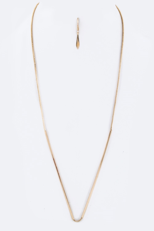 Tubed Long Necklace Set - orangeshine.com