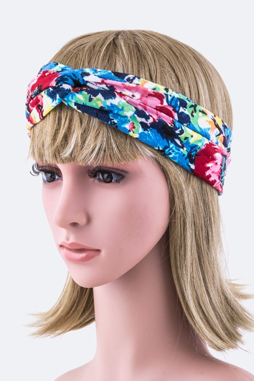 Knit Twist Stretch Headband - orangeshine.com