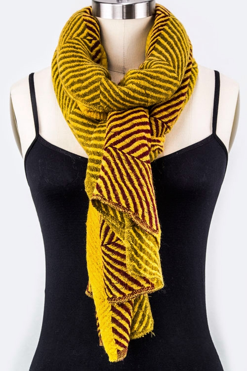 Stripe Block Fashion Scarf - orangeshine.com