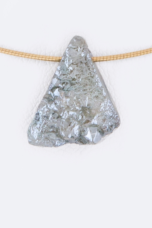 Triangle Druzy Necklace - orangeshine.com