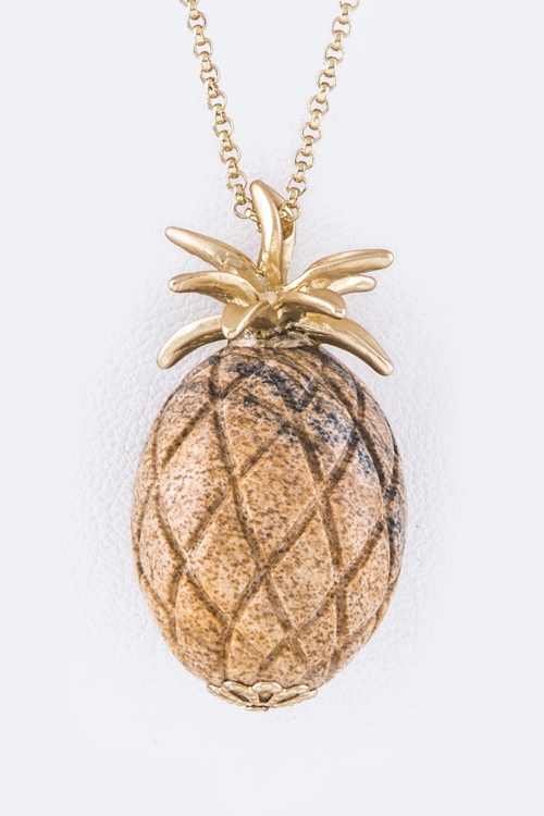 Pineapple Pendant Necklace - orangeshine.com
