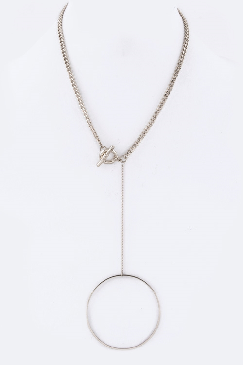 Hoop Drop Toggle Necklace - orangeshine.com