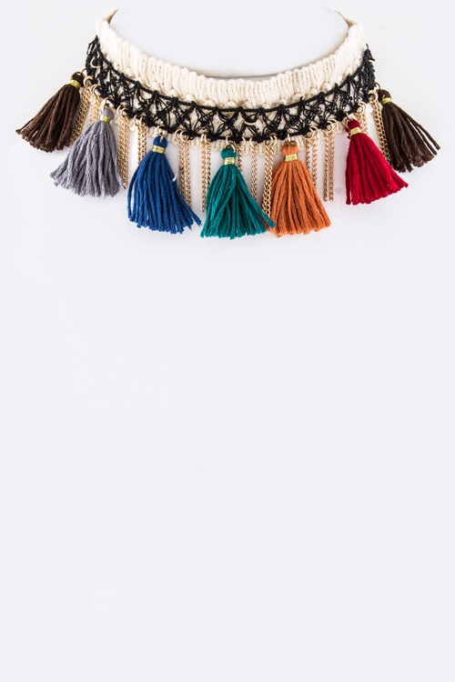 Multi Color Choker Set - orangeshine.com