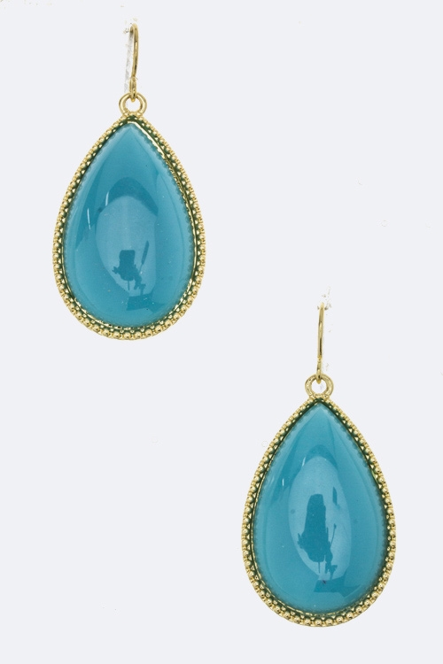 Resin Teardrop Earrings - orangeshine.com