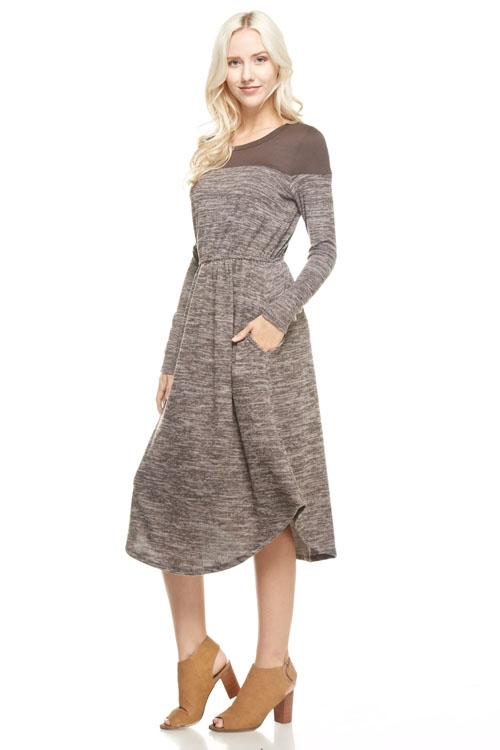 brushed sweater DRESS - orangeshine.com