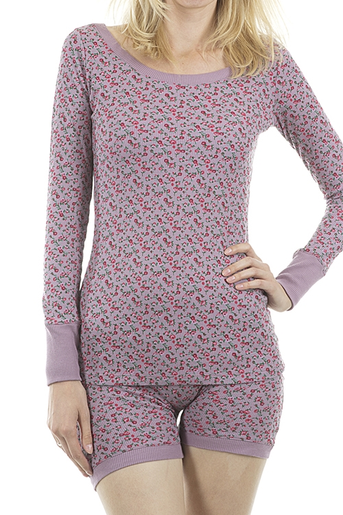 Knit Floral Sleeping Set - orangeshine.com