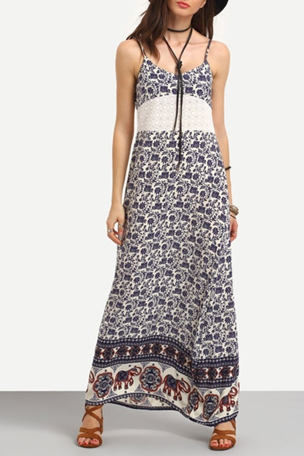 Tribal Print Cami Dress - orangeshine.com