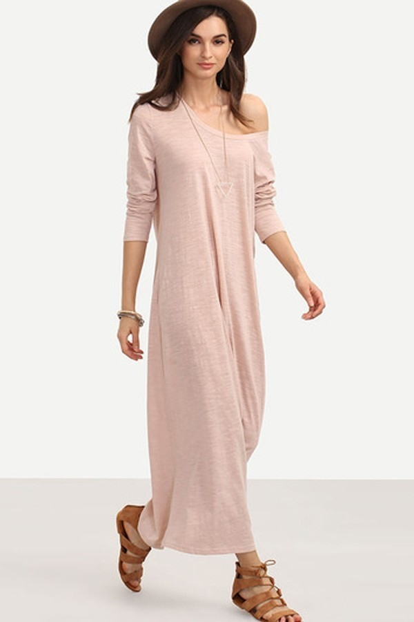 Long Sleeve Shift Dress - orangeshine.com
