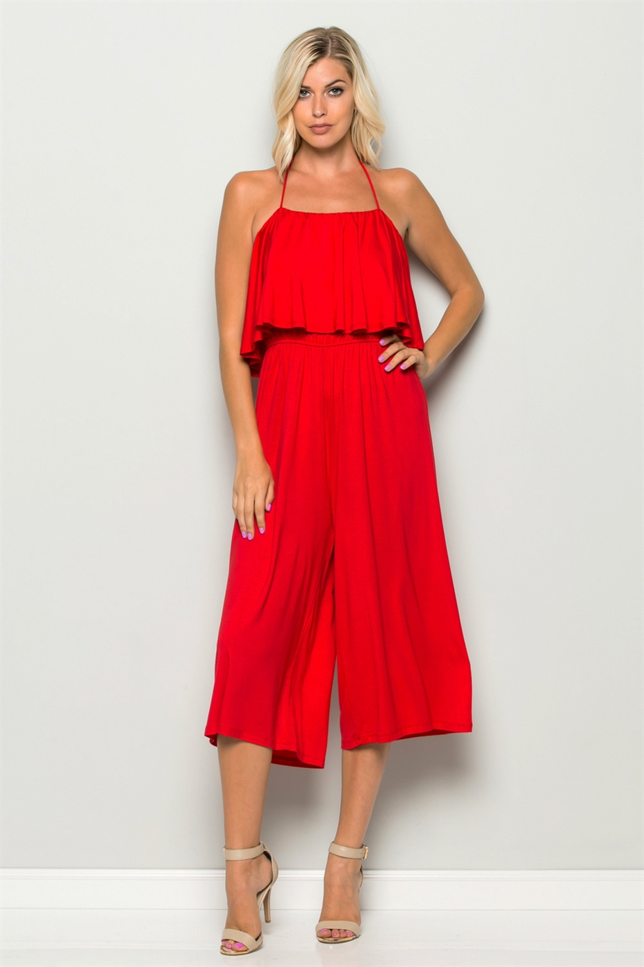 TUBE HALTER TOP JUMPSUIT - orangeshine.com