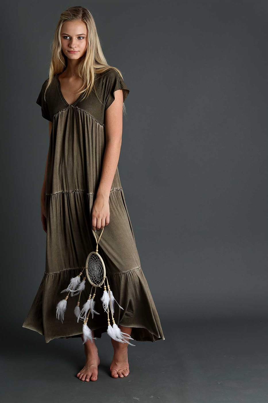 Tiered maxi dress - orangeshine.com