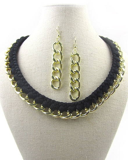 Black Chain Choker - orangeshine.com