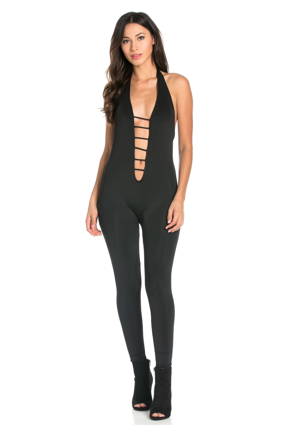 SLEEVELESS SIDE OPEN BODYSUIT - orangeshine.com