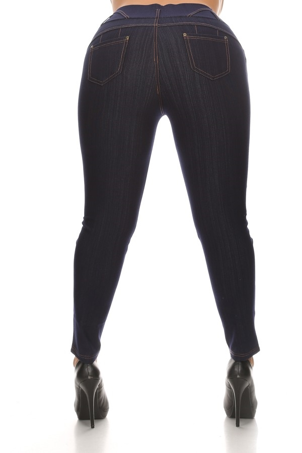 PLUS LEGGING DENIM BL - orangeshine.com