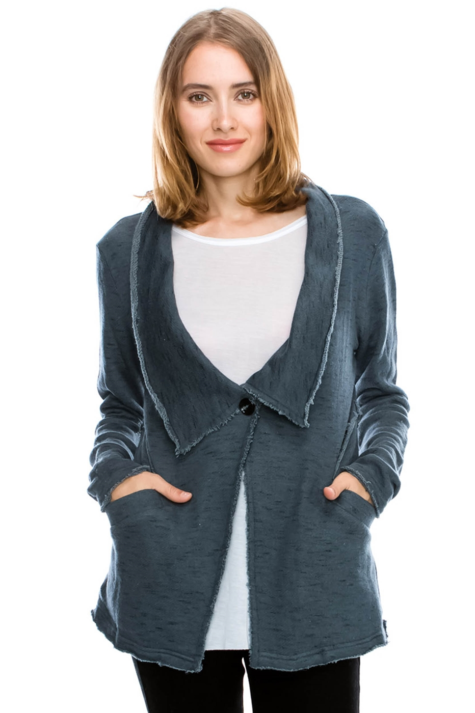 ONE BUTTON CARDIGAN - orangeshine.com