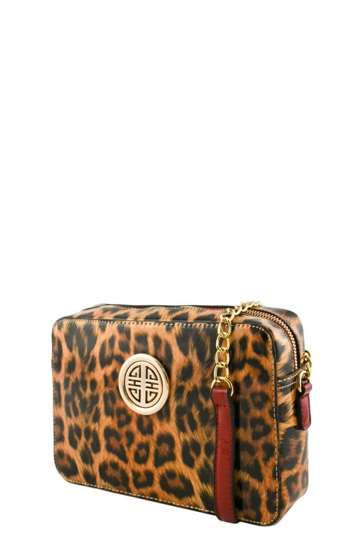 LEOPARD ROUNDED SYMBOL BAG - orangeshine.com