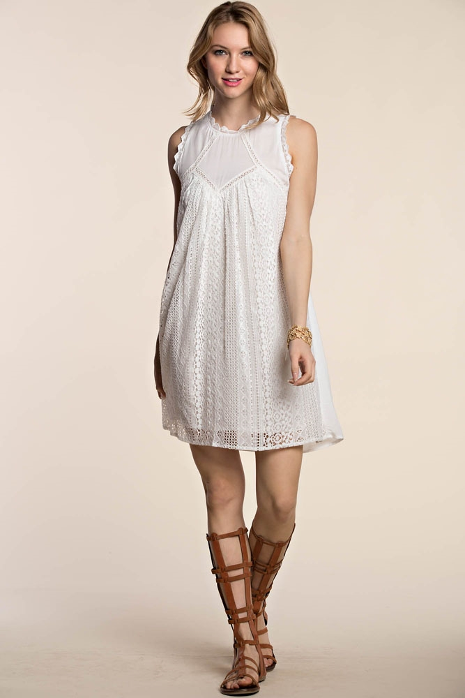 ANGEL LACE MINI DRESS - orangeshine.com